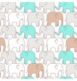 Seamless pattern elephant vector image