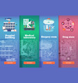 set of medical science flat banners vector image