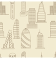 Tall buildings seamless retro vector image