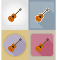 music items and equipment flat icons 06 vector image vector image