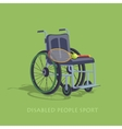 Tennis in a wheelchair to play vector image