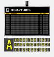 airport board vector image