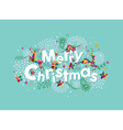 Merry Christmas contemporary greeting card vector image