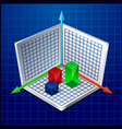 3d business graph or diagram vector image