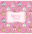 Cute Bird Houses Card - Spring Time vector image vector image