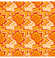 Autumn seamless pattern with orange leaf vector image