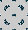 Joystick sign icon Video game symbol Seamless vector image