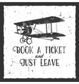 Vintage airplane typography poster Lettering and vector image