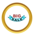 Big sale design icon vector image