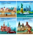Famous Cities Set vector image