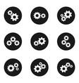 gear flat wheels icon set vector image