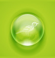 Glass sphere vector image