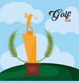 golf club golden trophy vector image