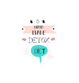 hand drawn abstract creative detox diet vector image