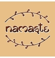 Indian welcome greeting Namaste vector image