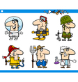 People occupations characters set vector image