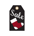 sale new year tag sample on vector image