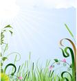Summer sun landscape vector image