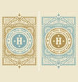 template vintage cover vector image