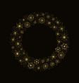 yellow snowflake wreath vector image