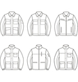 Work jacket set vector image vector image