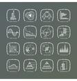 set of grunge web icons vector image