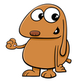 dog cartoon character vector image vector image