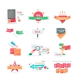 Business Icons for Sale and Discount Promotion Set vector image vector image