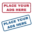 Place Your Ads Here Rubber Stamps vector image