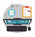 computer digital support technical review vector image