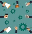 business concept office job stress work vector image