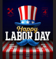 happy labor day party poster template vector image