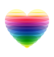 Transparent heart vector image vector image