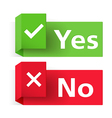 Yes and No Banners vector image vector image