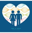 colorful horizontal ogee couple in love vector image