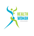 Health woman - logo concept vector image