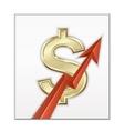 Dollar growth vector image vector image
