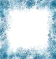 Snowflake Border vector image vector image
