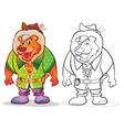 Fantasy mascot lion cartoon vector image