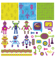 Cute Little Robots Collection vector image