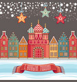 colorful greeting card for holidays in russia vector image