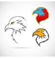 Eagles set vector image