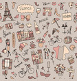 france sketch seamless pattern for your design vector image