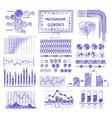 Hand drawn info graphics vector image