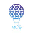 line ball object to play golf vector image