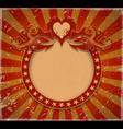 Romantic vintage background vector image
