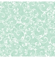 Sea Green Swirly Braches Seamless Pattern vector image