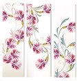 set of three vertical floral banners for your vector image