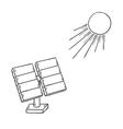 solar power and sun vector image
