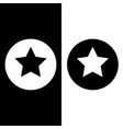 stars in circle black and white vector image